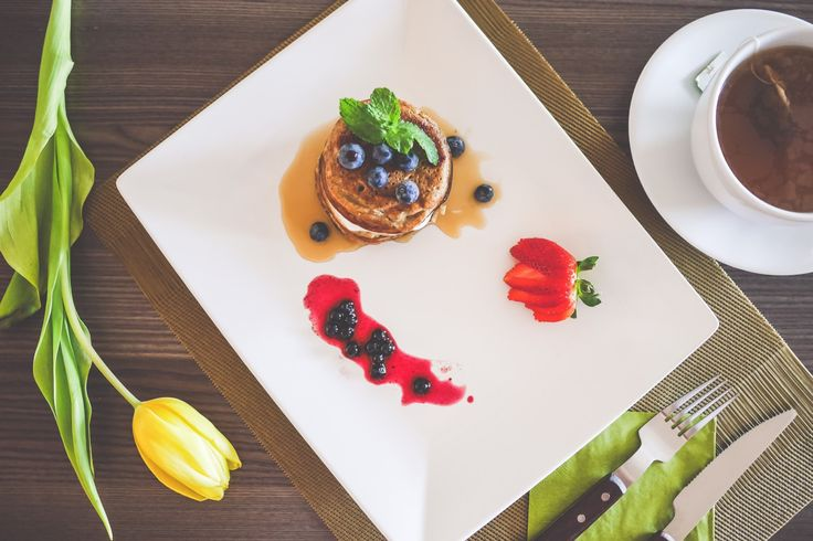 Free Image: Healthy Pancakes with Cottage Cheese And Blueberries