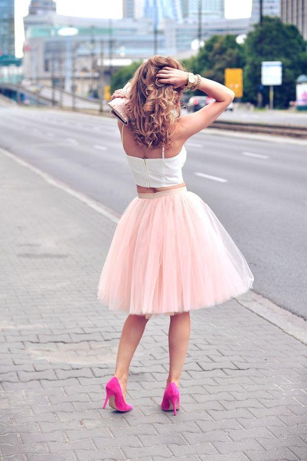 High Street Fashion Women Tulle Skirt with Five Layers One Lining Puffy A-line Custom Made Knee Length Tutu Elastic Satin Waist