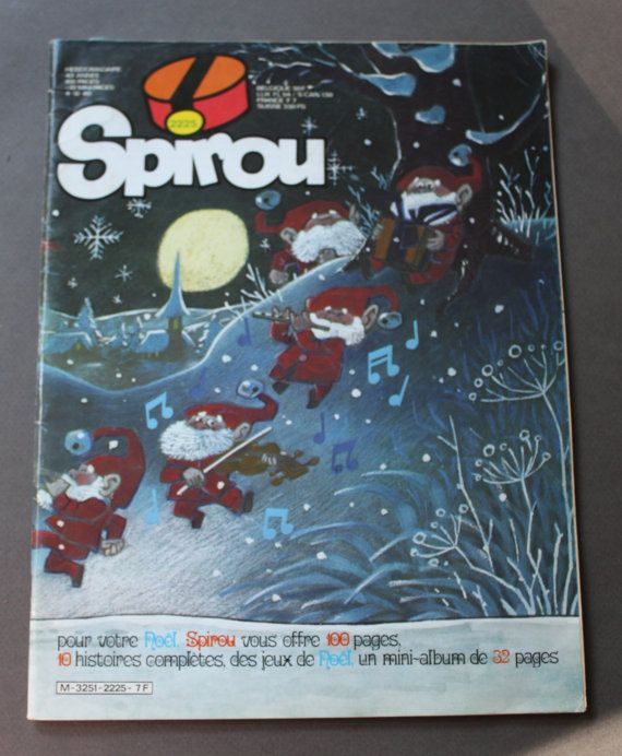 Spirou, #2225, Christmas Issue December 4, 1980 Belgian Comic Book in French