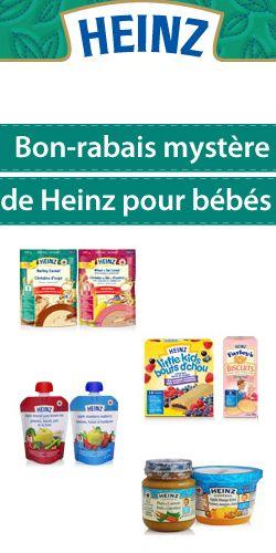 GRATUIT – produits Heinz bébés