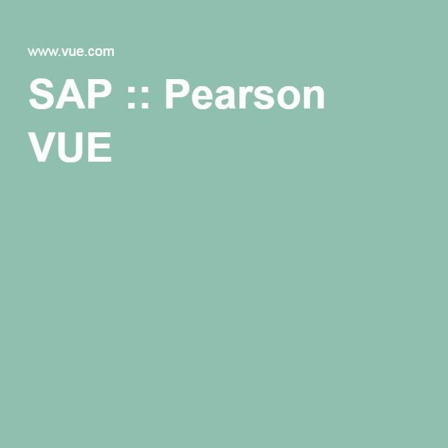 SAP :: Pearson VUE
