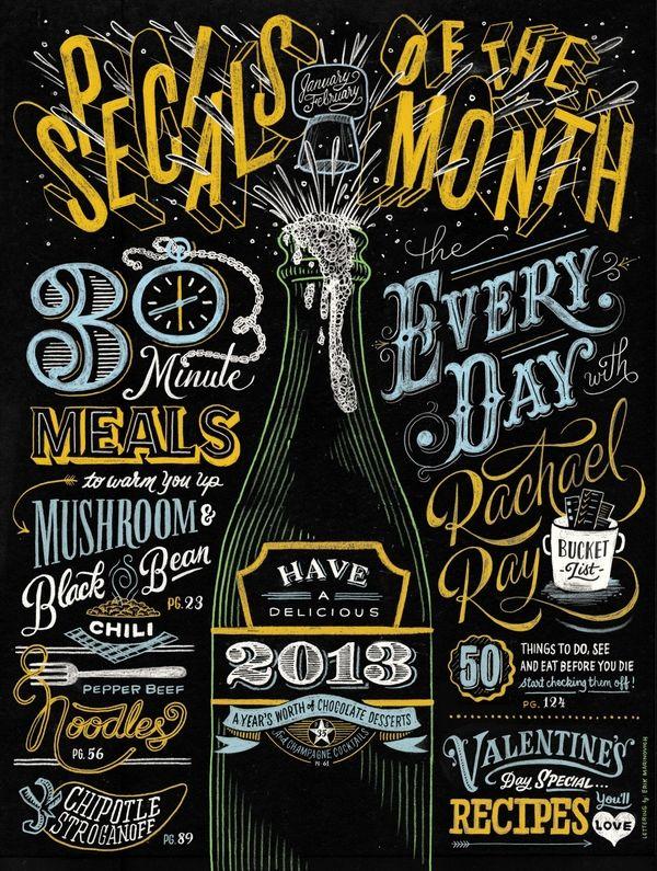 nice chalk work cover design via Slapdashing / Art and Design Inspiration Blog