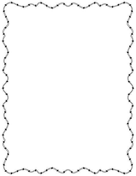 Barbed Wire Border: Clip Art, Page Border, and Vector