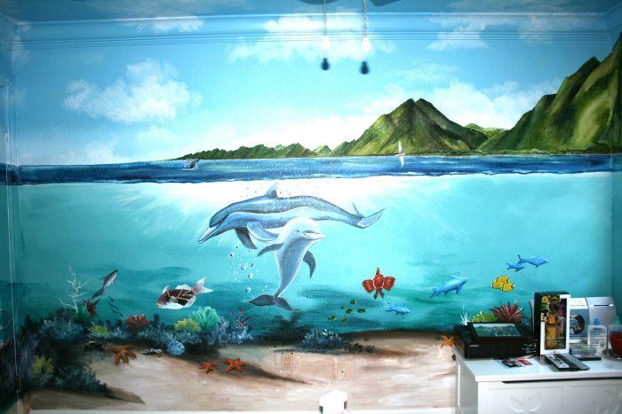 underwater bedroom mural idea in berkeley ca bedroom murals bedroom