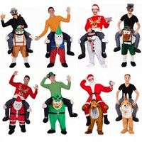 Home | Funny Carry Me Bavarian Beer Guy Ride on Oktoberfest Mascot Fancy Dress Costume Trousers Christmas Santa Clause