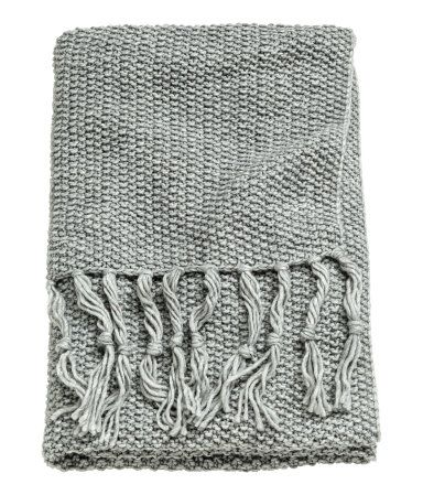 Moss-knit Throw | Gray | H&M HOME | H&M US