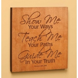 for the wall! Amish wall decor - carved into cherry