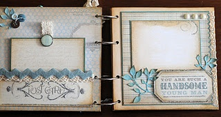 Mini album with some great ideas. Adapt for 12 x 12 pages