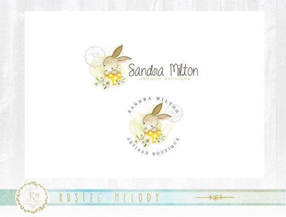 Logo del conejito niños Logo diseño fotografía por RusticMelody1