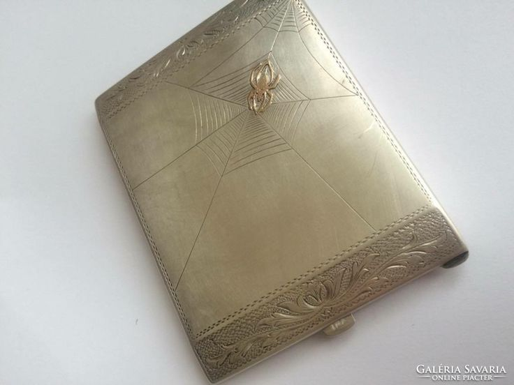 Csodálatos 156g ezüst pénztárca vagy cigaretta tárca