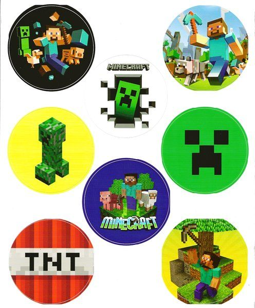 Minecraft Stickers 3 Inch Round Stickers Party Customs