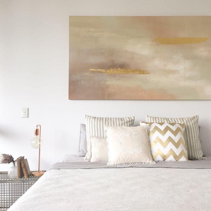 Neutrals master bedroom   Art by Francesca Gnagnarella @fragnagna_art