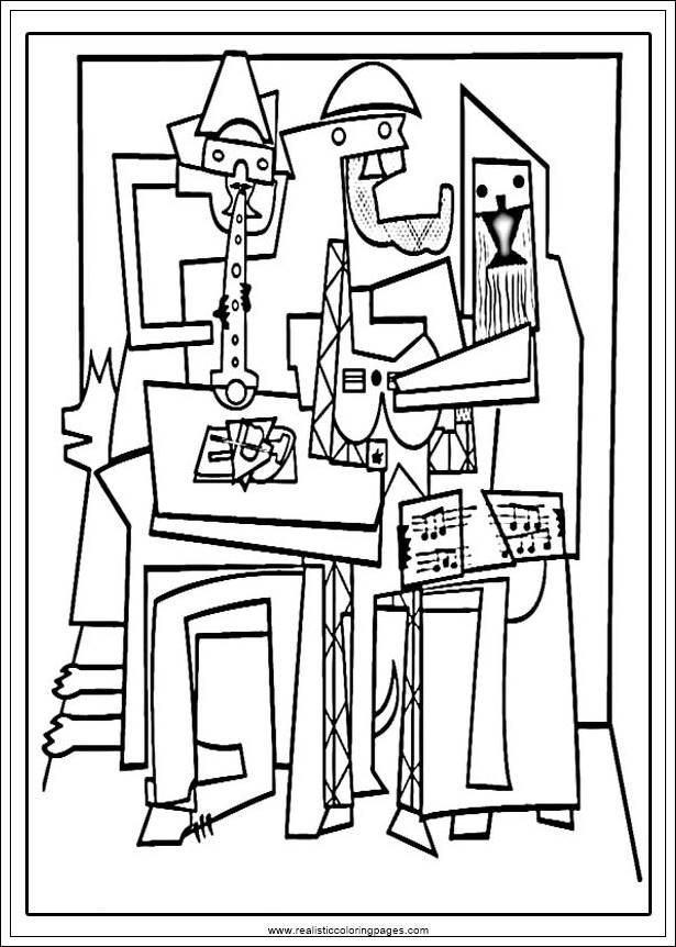 Image Result For Picasso Printable Coloring Pages Picasso Coloring Picasso Art Pablo Picasso Artwork