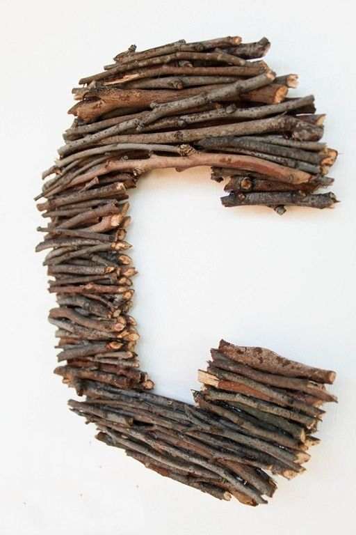 boy scout initial from sticks