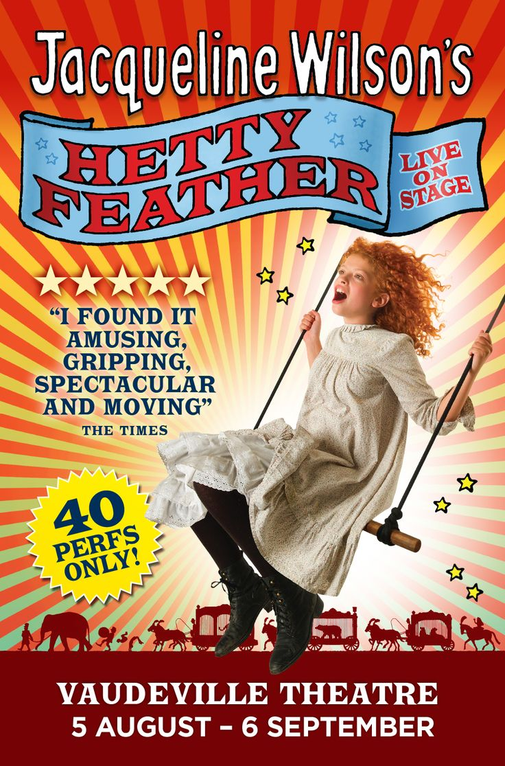 From page to stage, best-selling author Jacqueline Wilson's book Hetty Feather is brought to life. With just 40 performances only, get your tickets while you still can. http://www.theatrepeople.com/shows/hetty-feather