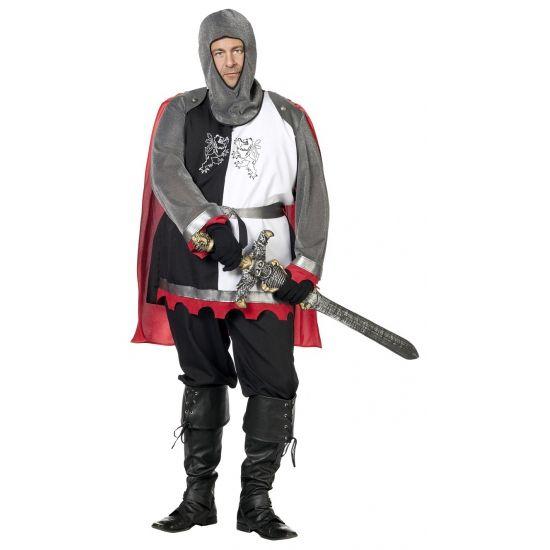 Grote maat middeleeuws ridder kostuum  Grote maat ridder kostuum voor heren. Dit middeleeuwse ridder kostuum bestaat uit: broek hes riem en kap. Dit ridder kostuum is exclusief zwaard.  EUR 59.95  Meer informatie