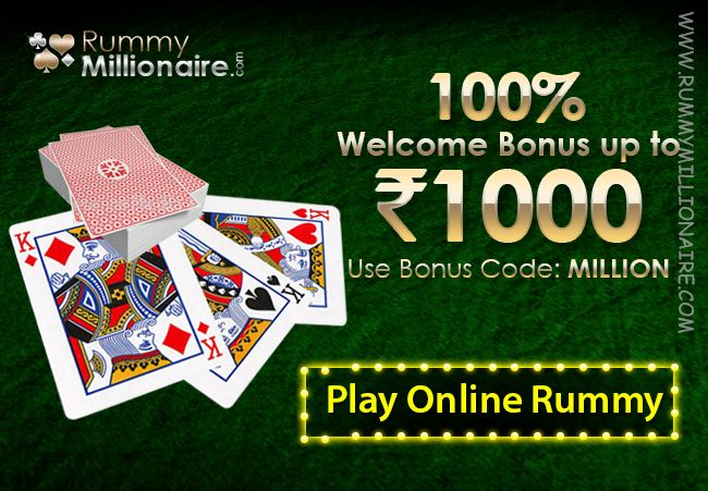 We welcome you to play #onlinerummy games with an exclusive rummy bonus!