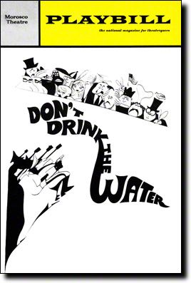 Playbill Cover for Don't Drink the Water at Morosco Theatre - Nov 1966