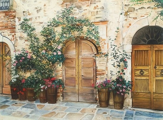 Three Tuscan Doors  by Elisabetta Franchini & 21 best tuscan style images on Pinterest | Front doors Door entry ...