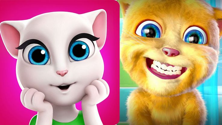 Fun babies games My Talking Angela great makeover + My Talking Ginger 2