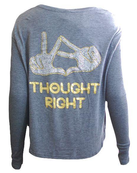 Thought #Theta, thought right | Kappa Alpha Theta http://www.adamblockdesign.com