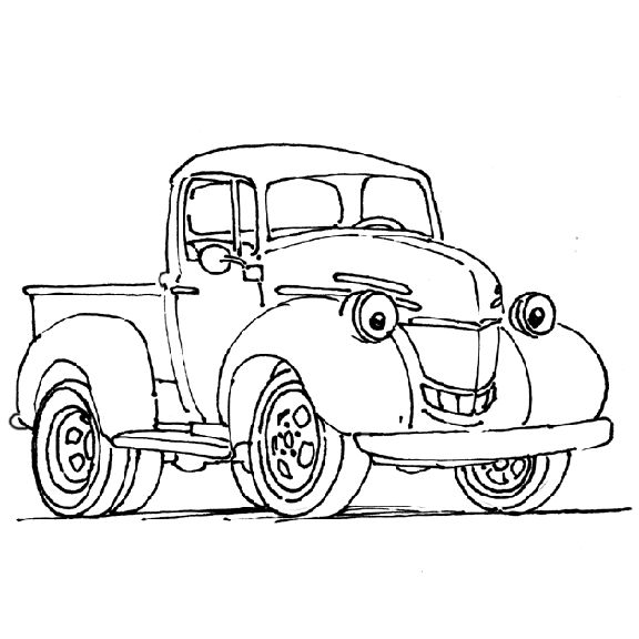 truck color book pages pickup truck coloring page side view free coloring sheet - Colour In For Kids