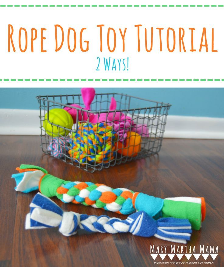 DIY Fleece Dog Toy Tutorial- How to make your own dog toys using fleece fabric. #FeedDogsPurina #ad