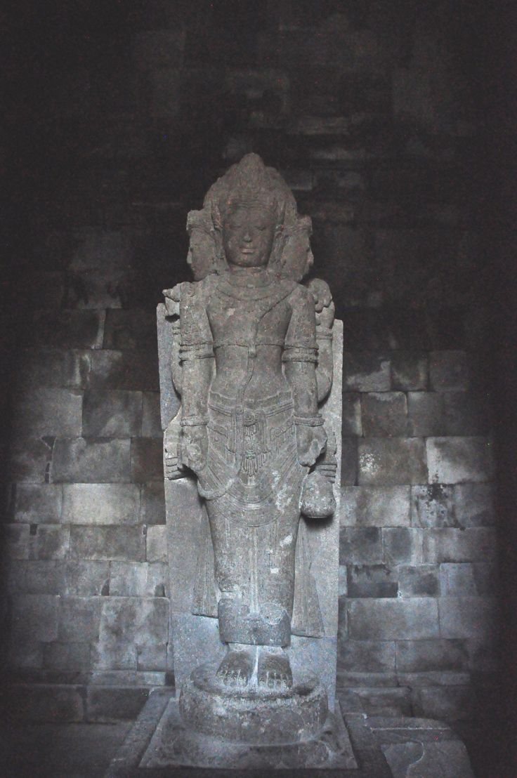 Hindu statue at Prambanan  - copyright architectureofbuddhism.com - read the travel diary at http://architectureofbuddhism.com/books/temples-borobudur-region-travel-diary-day-one/