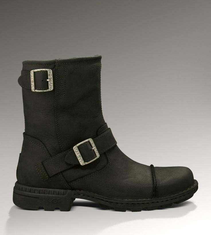 ugg leather motorcycle boots