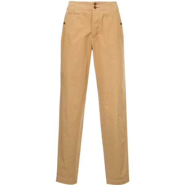 Kolor casual straight-leg chinos (22.585 RUB) ❤ liked on Polyvore featuring men's fashion, men's clothing, men's pants, men's casual pants, brown, brown mens pants, mens chinos pants, mens cotton pants, mens chino pants and mens straight leg cargo pants