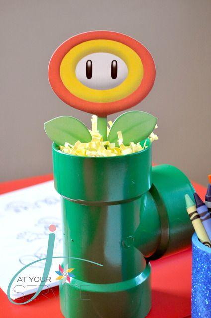 Great Super Mario Bros decor adorei essa ideias tubo de pvc e tinta verde e taran