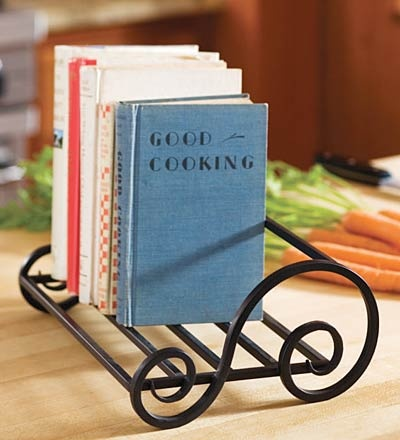 wrought iron bookshelf-would be cute in my kitchen with cookbooks on it