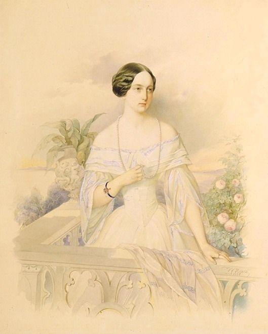 Vladimir Hau - Grand Princess Olga Nikolaevna, 1846, State Pushkin Museum, Moscow, Russia
