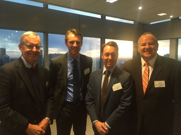 Victor Perton with the Australian Government's Dream Team in Peru: Great to catch up with Department of Foreign Affairs and Trade Ambassador Nicholas McCaffrey, Australian Trade Commission Trade Commissioner Daniel Havas and former Ambassador John Woods.