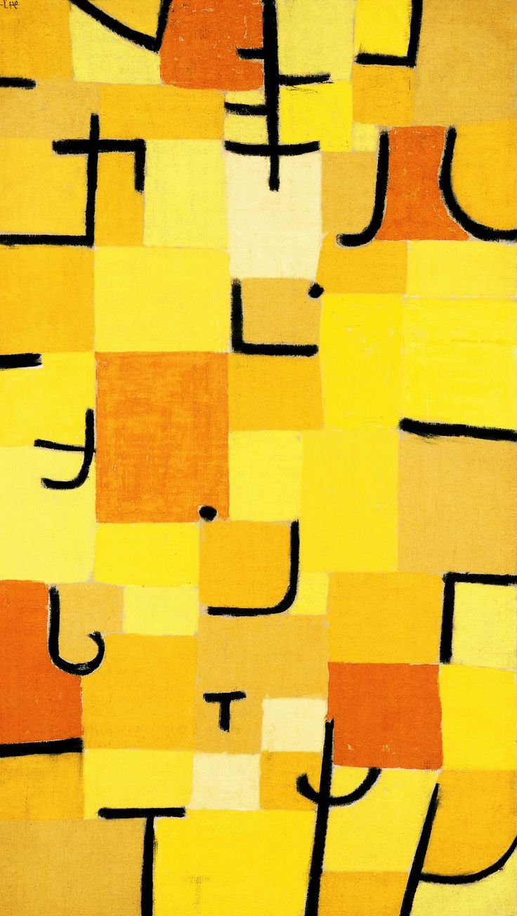 PAUL KLEE. Characters In Yellow. 1937.