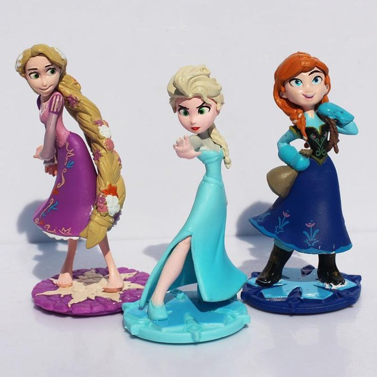 3pcs Cartoon Movie Princess Elsa Anna Rapunzel Action Figure Toy for Kids //Price: $9.95 & FREE Shipping //     #actionfigure
