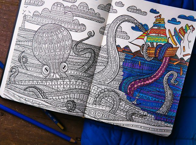 ColoringNotebook, coloring pages for adult!