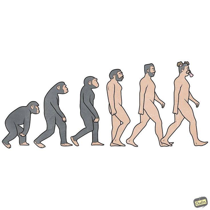 Смешная эволюция картинки
