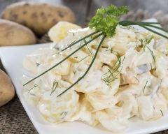 Salade terre-mer, sauce yaourt (facile, rapide) - Une recette CuisineAZ