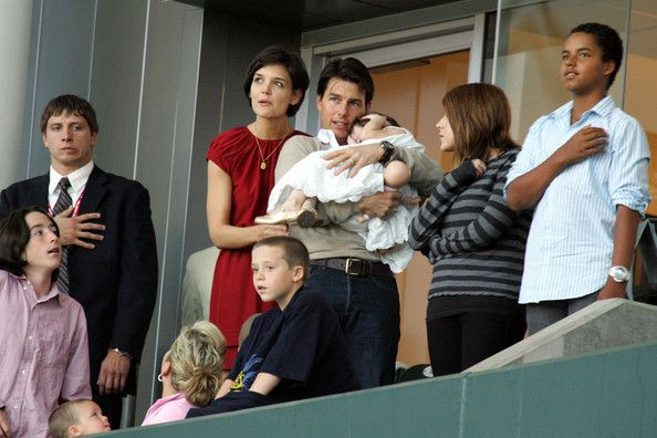 Suri Cruise and Isabella Kidman-Cruise - Tom Cruise, Katie Holmes & Family Watch New York Red Bulls v LA Galaxy