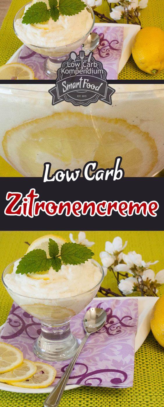 Zitronencreme Low Carb - Frisch, fruchtig und ein geniales Dessert - nicht nur für den Sommer. Hol dir das Rezept für diese fantastische Creme.