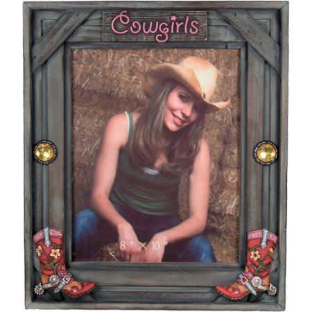 Rivers Edge Products 8 inch x 10 inch Cowgirl Picture Frame, Multicolor