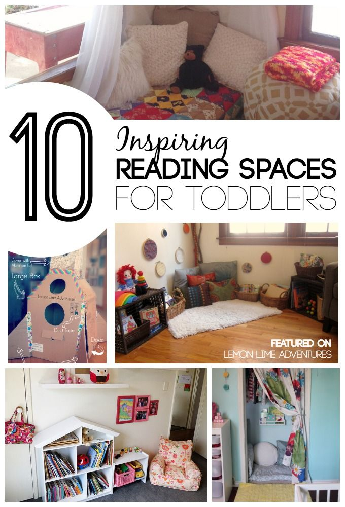 Inspiring Reading spaces for Toddlers | Love these simple tips for encouraging reading with toddlers and beyond!