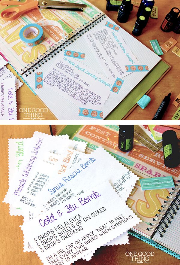 Create an EO Journal – A SMASHing Idea! Complete with EO Recipes to download! (Jillee's Best Laundry Recipes too!)
