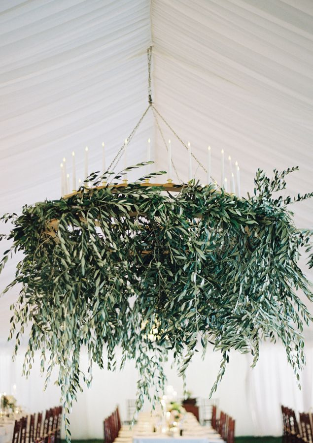 Olive branch chandelier: http://www.stylemepretty.com/2015/09/10/outdoor-western-australia-summer-wedding/ | Photography: Jose Villa - http://josevilla.com/