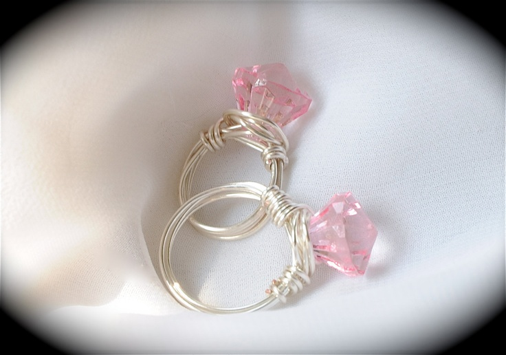 Matching Images >> Princess and her Queen - Mother and Daughter matching Rings, great for bridal and baby showers ...