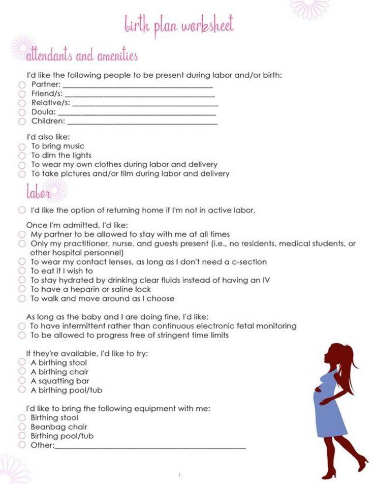 17 Best ideas about Birth Plan Printable on Pinterest | Pregnancy ...