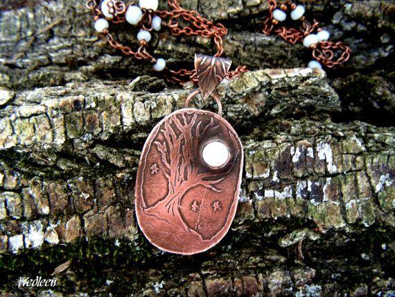 Moonstone pendant elven pendant fantasy by JewellerybyWedleen