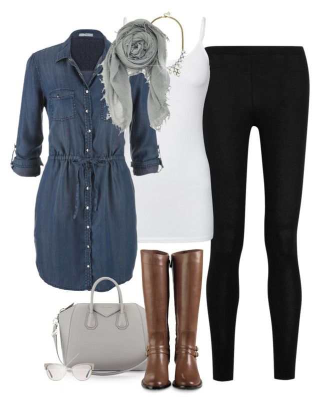 I have a dress just like this in brown plaid. I wear it with leggings and tall brown boots. Such a cute and versatile winter weekend look.