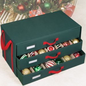 Sterilite Adjustable Ornament Storage Box